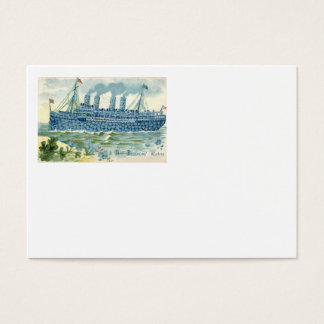 Steam Ship Forget Me Not Clover Business Card