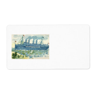Steam Ship Forget Me Not Clover Label