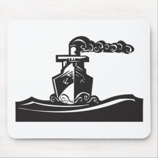 Steam Ship Mouse Pad