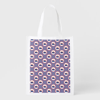 Steam Ship Stripes Grocery Bags