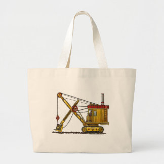 Steam Shovel Digger Construction Bags/Totes Large Tote Bag