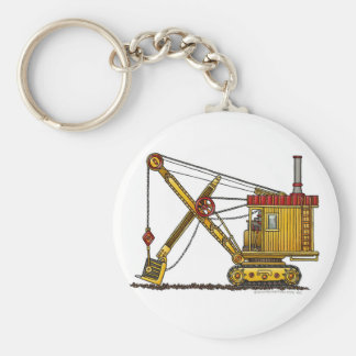 Steam Shovel Digger Construction Key Chains