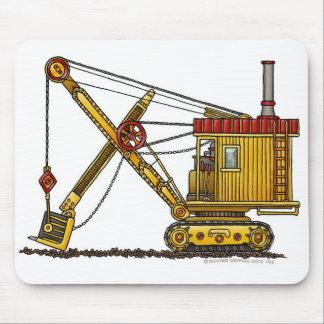 Steam Shovel Digger Construction Mouse Pad
