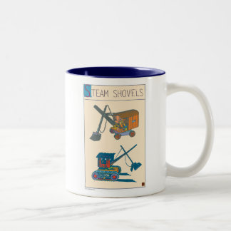 Steam Shovels Two-Tone Coffee Mug
