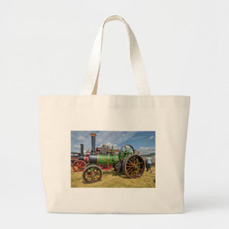 Steam Traction Engine Large Tote Bag