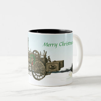 Steam Traction Engine Russell and Co. 1889 Farm Two-Tone Coffee Mug