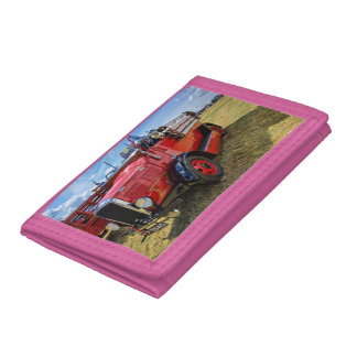Steam Traction Engine Tri-fold Wallet