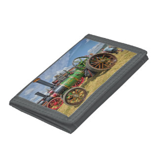 Steam Traction Engine Trifold Wallet