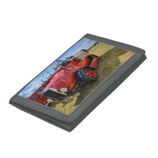 Steam Traction Engine Trifold Wallets