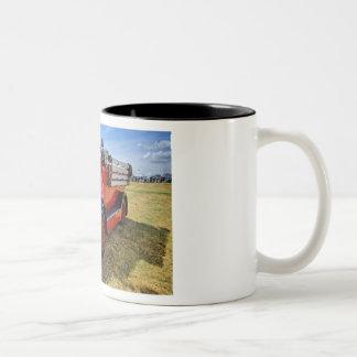 Steam Traction Engine Two-Tone Coffee Mug