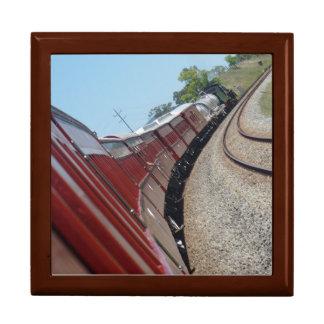 STEAM TRAIN AND CARRIAGES QUEENSLAND AUSTRALIA KEEPSAKE BOX