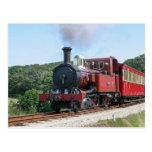 Steam train at Castletown Isle of Man Postcard