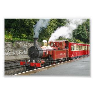 Steam train at Douglas Isle of Man Photo Print