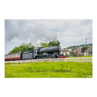 Steam train at the Bo'ness Kinneil Railway poster