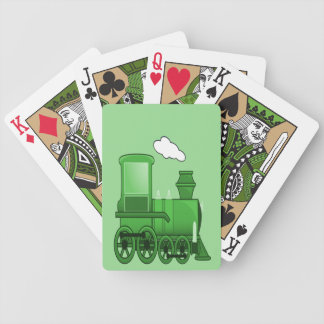 Steam Train Bicycle Playing Cards