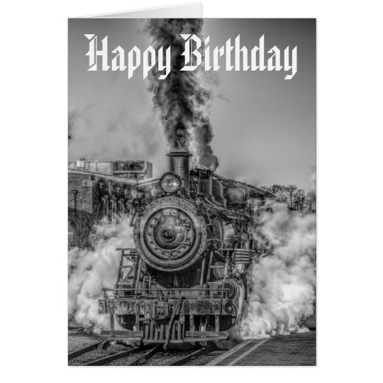 Steam train birthday card zazzle steam train birthday card bookmarktalkfo Image collections