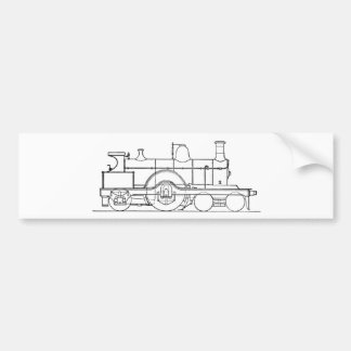 Steam Train Car Bumper Sticker