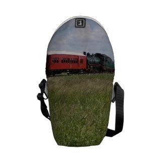 STEAM TRAIN & CARRIAGE RURAL QUEENSLAND AUSTRALIA COURIER BAG