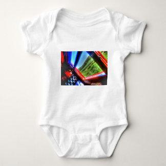 STEAM TRAIN CARRIAGE & SUGAR CANE FIELDS AUSTRALIA BABY BODYSUIT