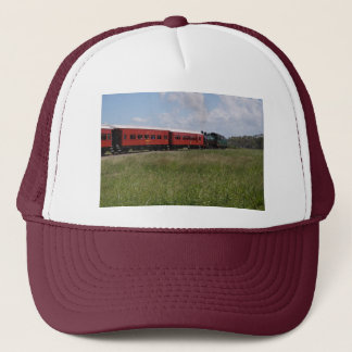 STEAM TRAIN &CARRIAGES RURAL AUSTRALIA TRUCKER HAT