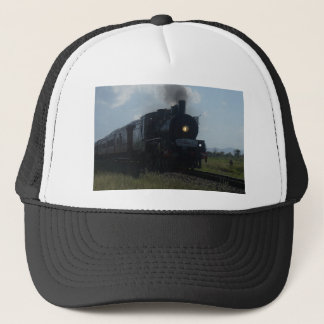 STEAM TRAIN & CARRIAGES RURAL QUEENSLAND AUSTRALIA TRUCKER HAT