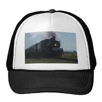 STEAM TRAIN & CARRIAGES RURAL QUEENSLAND AUSTRALIA TRUCKER HAT