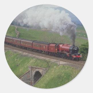 Steam train classic round sticker