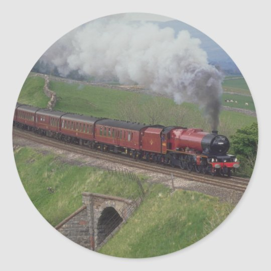 Steam train classic round sticker