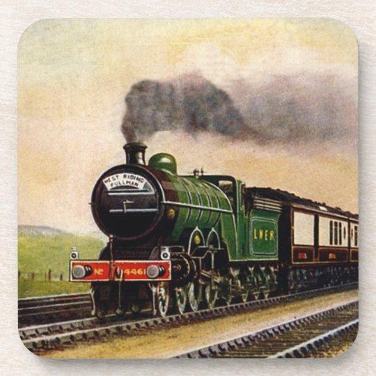 Steam Train Cork Coaster