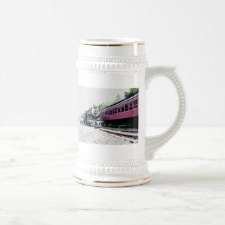 Steam Train Digital Rendering, BM&R #425 Beer Stein