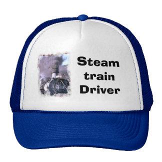 Steam Train Driver Trucker Hat
