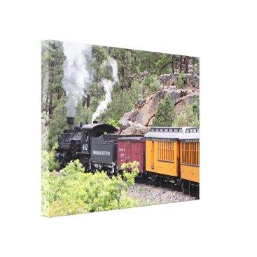 franwestphotography Steam train engine, Colorado, USA, 9 Canvas Print