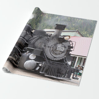Steam train engine, Colorado, USA, wrapping paper
