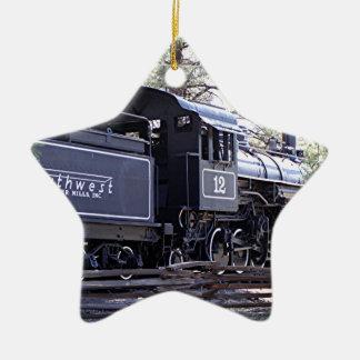 Steam train engine, Flagstaff, Arizona,USA Ceramic Ornament