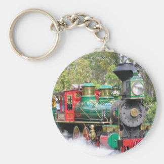 Steam train engine keychain