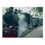 Steam train excursion post card