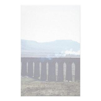 "Steam train ""Green Arrow"" on Ribblehead Viaduct, E Stationery"