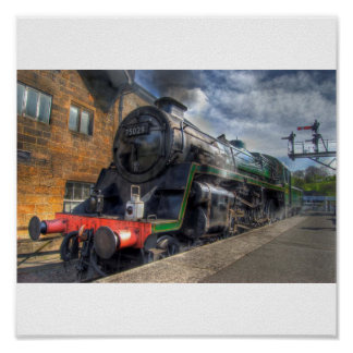 Steam Train HDR Poster