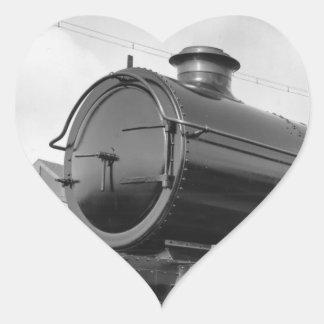 Steam Train Heart Sticker