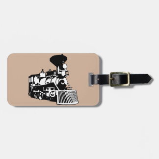 steam train locomotive bag tag