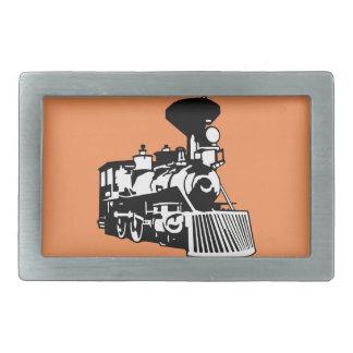 steam train locomotive belt buckle