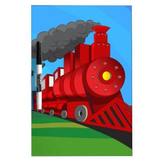 Steam Train Locomotive Cartoon Dry Erase Board