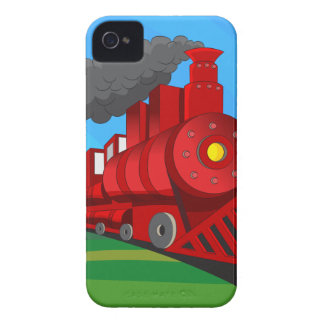 Steam Train Locomotive Cartoon iPhone 4 Case