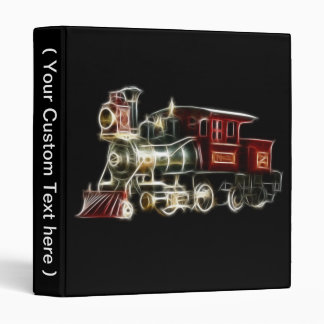 Steam Train Locomotive Engine Binder