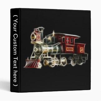 Steam Train Locomotive Engine Binder
