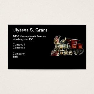 Steam Train Locomotive Engine Business Card