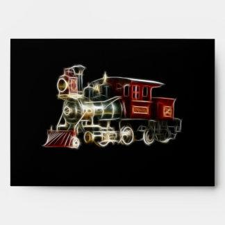 Steam Train Locomotive Engine Envelope