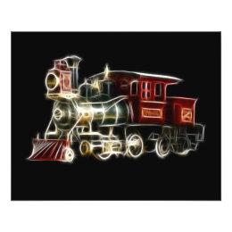 Steam Train Locomotive Engine Flyer