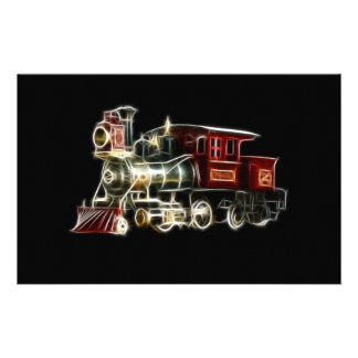 Steam Train Locomotive Engine Stationery