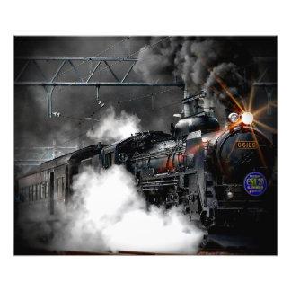 Steam Train Locomotive Photo Print